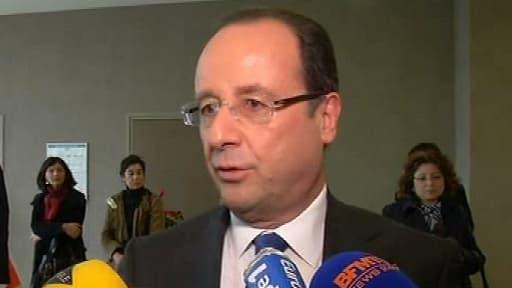 François Hollande, vendredi, lors d'un déplacement à Paris.