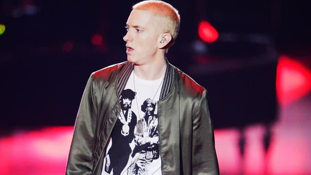 Eminem sur scène en avril 2014