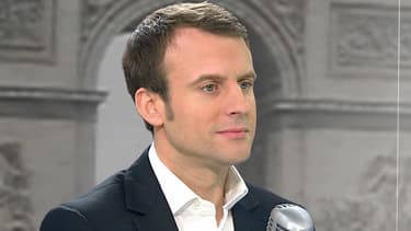 Le ministre de l'Economie Emmanuel Macron, mercredi matin sur BFMTV et RMC