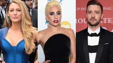 Blake Lively, Lady Gaga et Justin Timberlake