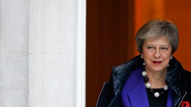 Theresa May quitte le 10, Downing street à Londres, le 31 octobre dernier.