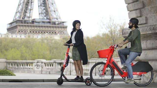 Uber lance JUMP ce jeudi à Paris. Ce service propose 500 vélos électriques et 500 trottinettes électriques en libre-service.