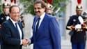 François Hollande en compagnie d'Hamed ben Khalifa al-Thani, l'émir du Qatar, en août 2012.
