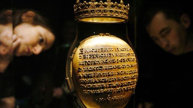 Le reliquaire ayant contenu le cœur d'Anne de Bretagne