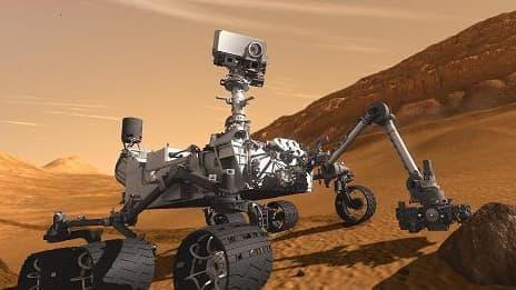 Curiosity, le robot de 900 kg envoyé par la Nasa sur la planète Mars.