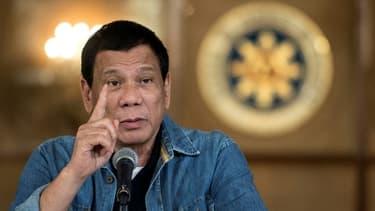 Le président philippin Rodrigo Duterte lors d'une conférence de presse, le 30 janvier 2017 à Manille