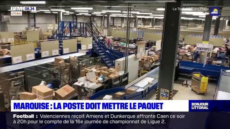 Pas-de-Calais: la plateforme de tri de La Poste à Marquise tourne à plein régime avant les fêtes