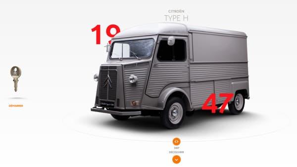 La fiche consacrée au Type H sur le site Citroën Origins regorgent de contenus sur la fourgonnette.