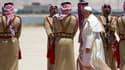 Le pape François lors de son arrivée en Jordanie.