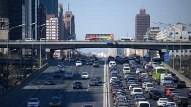 Vue de la ville de Beijing en Chine, une des plus importantes du pays en termes économiques.