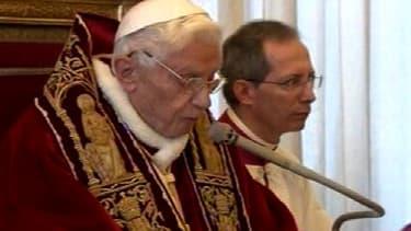 Benoît XVI, lorsqu'il occupait encore ses fonctions de pape.