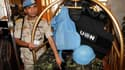 Un membre de la Mission d'observation des Nations unies en Syrie, dans un hôtel de Damas, après avoir quitté la province de Homs. La plupart des observateurs militaires de l'Onu ont quitté le territoire syrien au terme d'une mission de quatre mois qui s'e