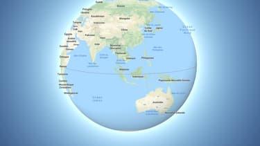 Google Maps qui abandonne la projection de Mercator pour un globe interactif.