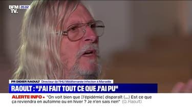 """Didier Raoult à propos de confrères: """"J'ai porté plainte pour le fait qu'on m'ait menacé"""""""