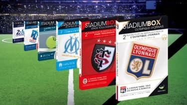 Les StadiumBox se déclinent dans plusieurs sports, dont le football et le rugby.
