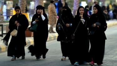 Des Saoudiennes lors d'un festival culturel en février 2016 dans la banlieue de Riyad (photo d'illustration)