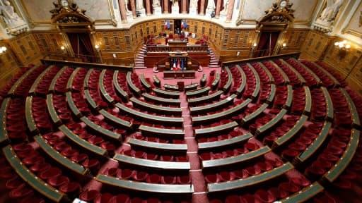 L'hémicycle du Sénat, le 7 avril 2015 à Paris