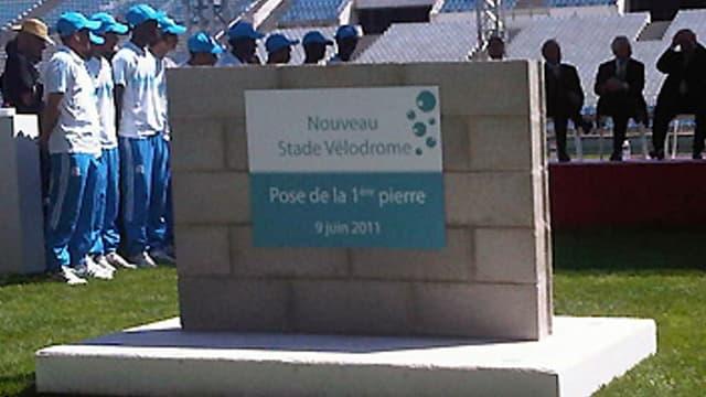 La première pierre du nouveau Vélodrome