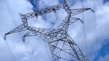 Un pylône de ligne à haute tension.