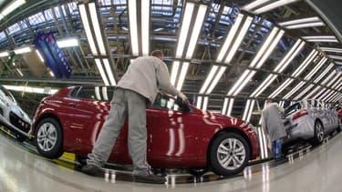 Image d'illustration - La production de la 308 à Sochaux, en France.
