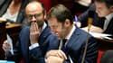 Edouard Philippe et Christophe Castaner le 12 décembre 2017 à l'Assemblée nationale.