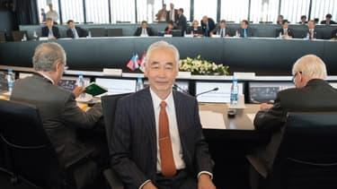 Osamu Motojima, le directeur général d'Iter, avant la réunion interministérielle de ce vendredi.