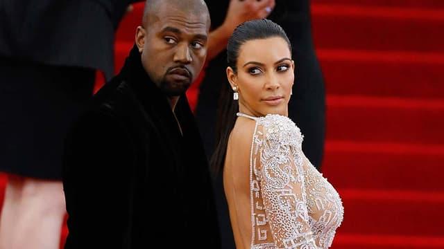 Kim Kardashian et Kanye West au Met Gala  New York le 5 mai 2015.
