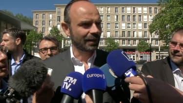 Edouard Philippe après sa démission de la mairie du Havre, le 20 mai 2017.
