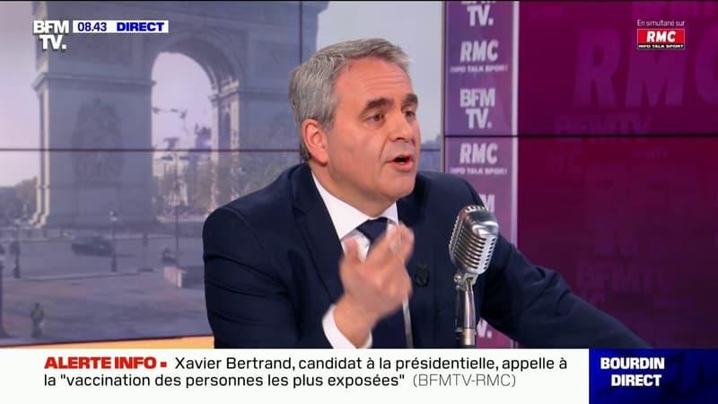 Xavier Bertrand se justifie sur sa double candidature, entre la région des Hauts-de-France et la présidentielle 2022