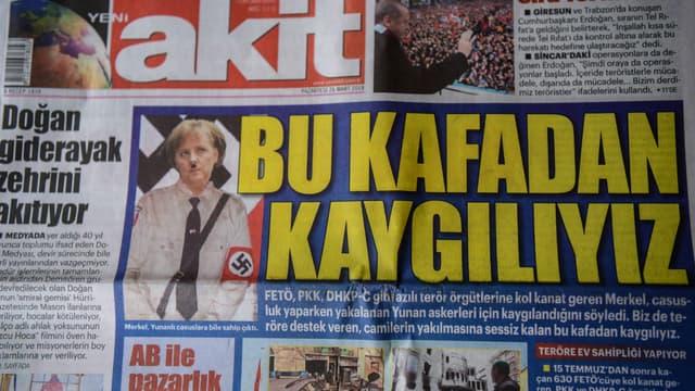 Angela Merkel en une du quotidien turc Yeni Akit