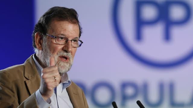 Mariano Rajoy, le Premier ministre espagnol, à Barcelone le 12 novembre 2017