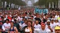 La française Christelle Daunay a amélioré son propre record de France au marathon de Paris.