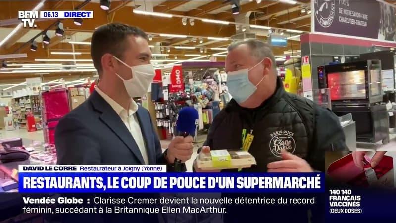 Un restaurateur s'installe dans un rayon de supermarché à Joigny dans l'Yonne