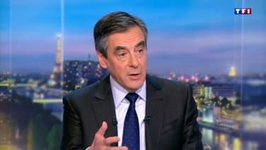 François Fillon sur le plateau du 20h de TF1 le 3 janvier 2017.