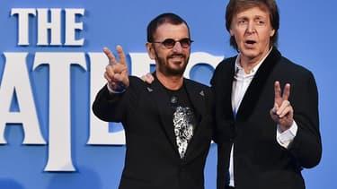 Ringo Starr et Paul McCartney en 2016.