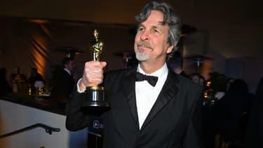 "Peter Farrelly avec son Oscar du meilleur film pour ""Green Book""."