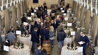 Les visiteurs se pressent à la semaine des primeurs des vins de Bordeaux.