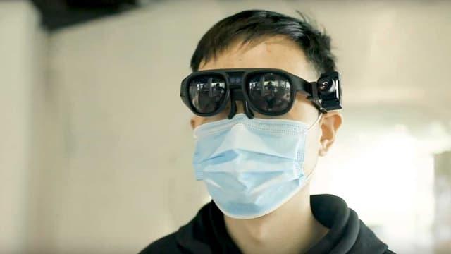 Les lunettes intelligentes capables de prendre la température des passants
