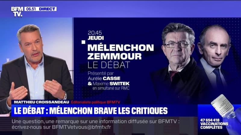 Jean-Luc Mélenchon tient à débattre avec Éric Zemmour, malgré les nombreuses critiques