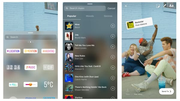 Il est désormais possible d'ajouter des musiques directement dans l'application Instagram