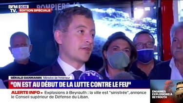 """Incendie à Martigues: """"On n'est qu'au début de la lutte contre le feu"""", selon Gérald Darmanin"""