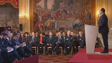 François Hollande lors de sa troisième conférence de presse.