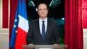 François Hollande lors des premiers voeux aux Français, le 31 décembre 2012.