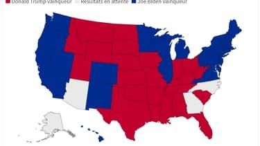 Les résultats État par État après la présidentielle américaine