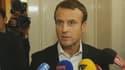 """""""Les jeunes générations veulent devenir entrepreneurs, pas fonctionnaires"""", a lancé Emmanuel Macron à Londres."""
