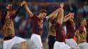 Totti et ses coéquipiers fêtent leur victoire 5-0 contre Bologne le 29 septembre dernier