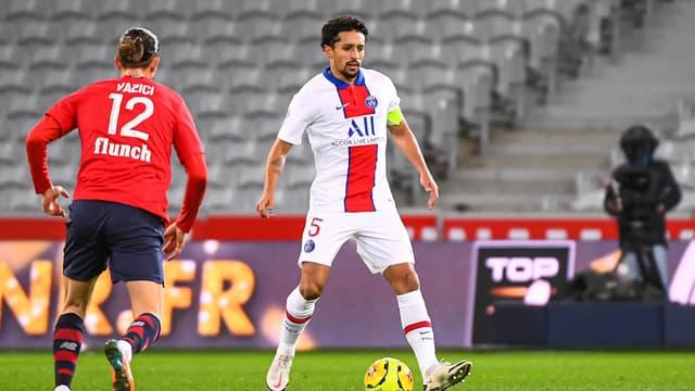 Marquinhos lors de Lille-PSG