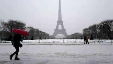 Paris sous la neige le 9 février 2018 (photo d'illustration)