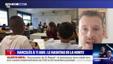 """Laurent Boyet (association Les Papillons): """"Le harcèlement scolaire, c'est la moitié des mots qu'on reçoit"""""""