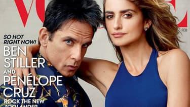 Ben Stiller et Penelope Cruz en une de Vogue